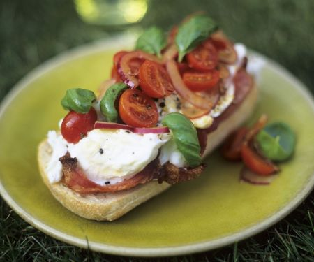 Italian Mozzarella and Bacon Toasts