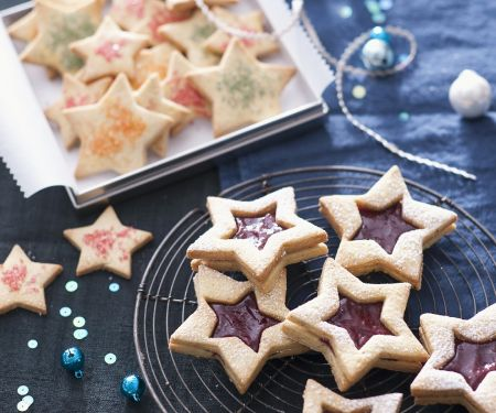Jam Filled Star Cookies