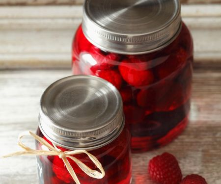 Jars of Sweet Raspberries