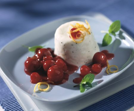 Kefir Pannacotta with Cherry and Redcurrant Compote