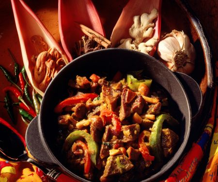 Lamb Curry with Bell Peppers