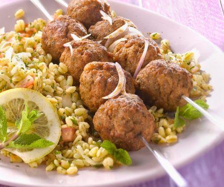 Lamb Meatballs with Wheat Salad