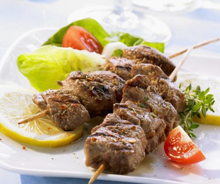 Lamb Skewers with Tomatoes