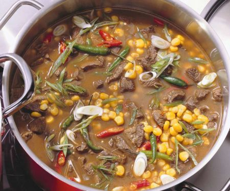 Lamb Stew with Green Beans and Corn