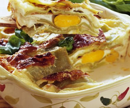 Lasagna with Hard-Boiled Eggs