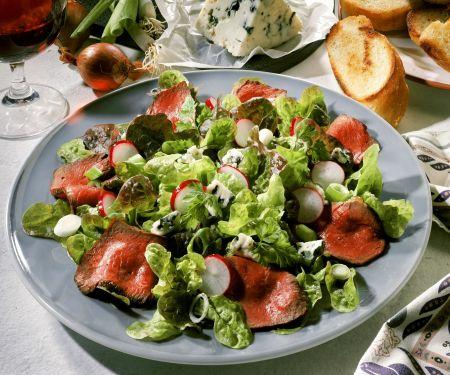 Leafy Steak Salad