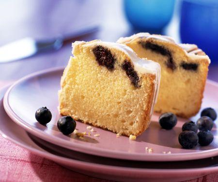 Lemon Bundt Cake with Blueberries