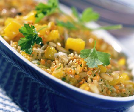 Lentil and Rice Casserole