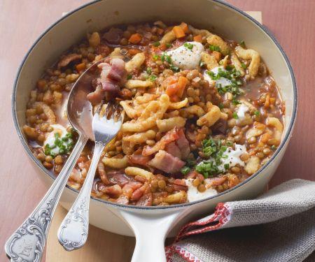Lentils Soup with Spaetzle