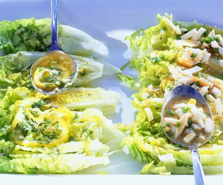 Lettuce Hearts with Egg Dressing and Lemon Butter