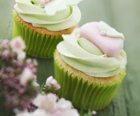 Lime Cupcakes with White Chocolate Lime Cream