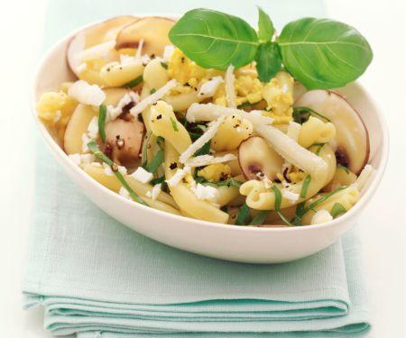 Macaroni with Marinated Mushrooms
