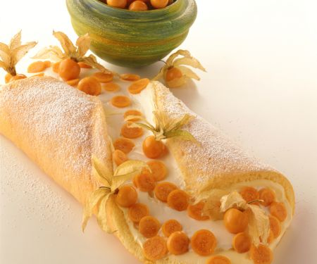 Mango Jelly Roll Cake
