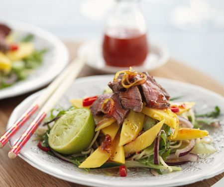 Mango Salad with Rice Noodles and Beef