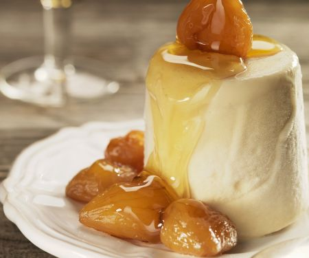 Maple Caramel Creams with Candied Chestnuts