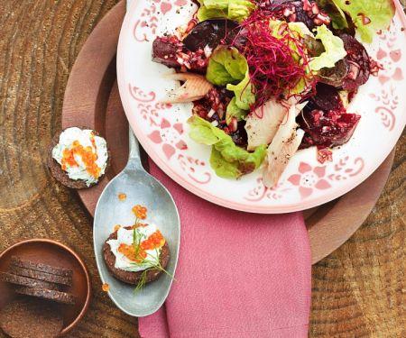 Marinated Beets and Smoked Trout Salad