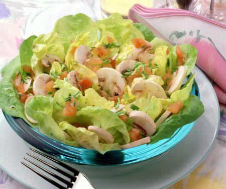 Marinated Mushroom Salad with Tomatoes