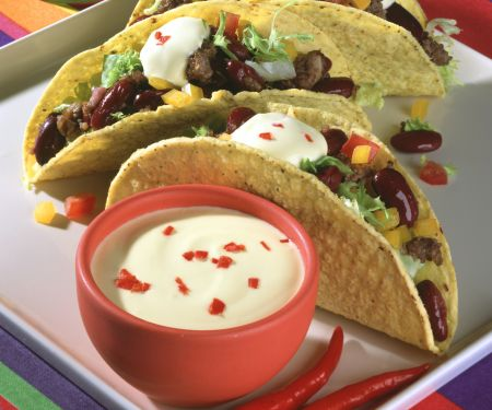 Meat and Bean Tacos