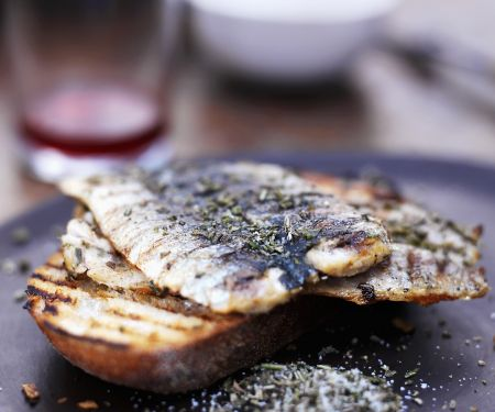 Med-style Fish on Toast