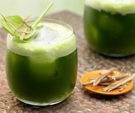 Melon-Spinach Juice