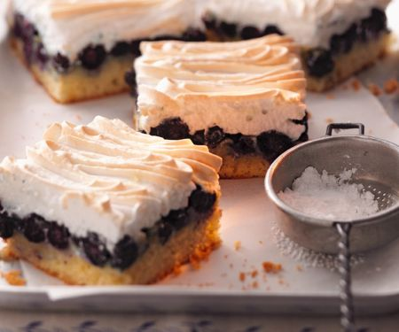 Meringue Topped Blueberry Squares