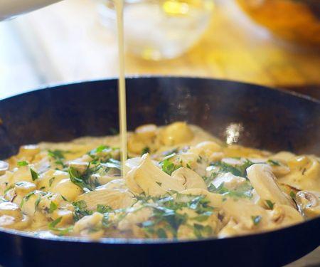 Mixed Mushroom Blue Cheese Sauce