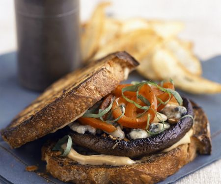Mushroom Burger Sandwiches