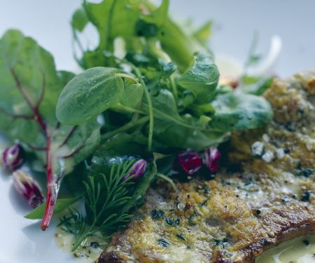 Mustard Herb Crusted Sirloin with Herb Salad