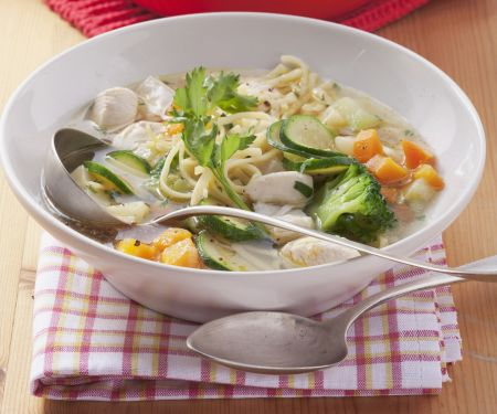 Noodle and Broccoli Soup