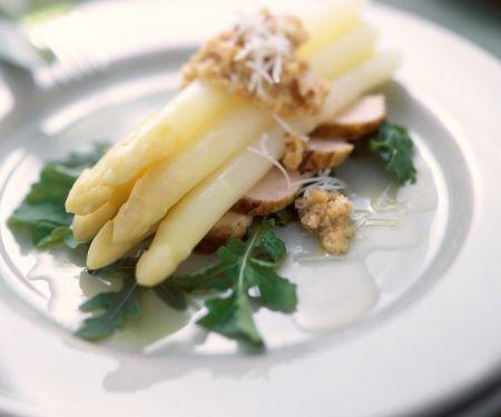 Nutty Asparagus with Sliced Game Bird