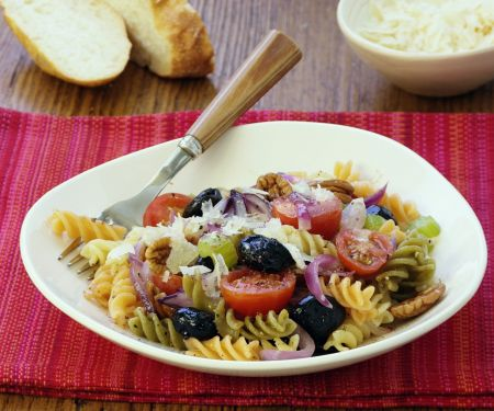 Olive and Tomatoes with Fusilli