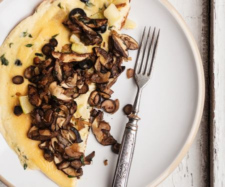 Omelet with Fresh Mushrooms