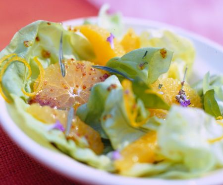 Orange Salad with Honey Vinaigrette