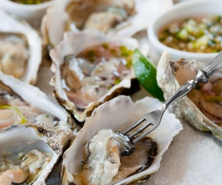 Oysters with Three Sauces