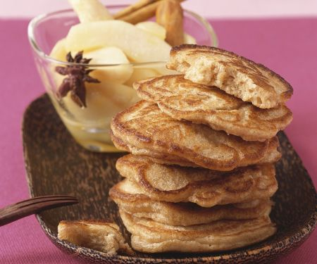 Pancakes with Pear Compote