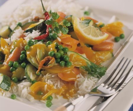Pea Curry with Fresh Cilantro