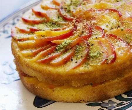 Peach and Pistachio Cake