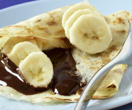 Pear and Chocolate Crepes