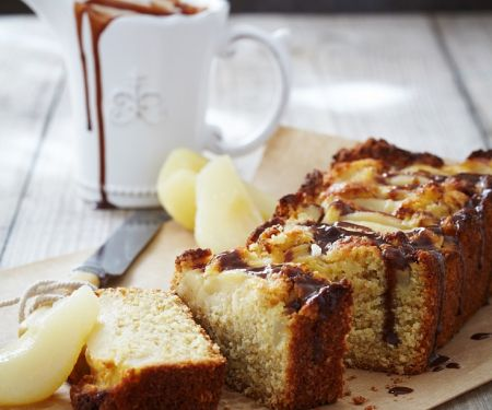 Pear Ginger Cake with Chocolate Icing