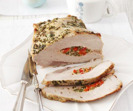 Pepper Stuffed Pork Loin