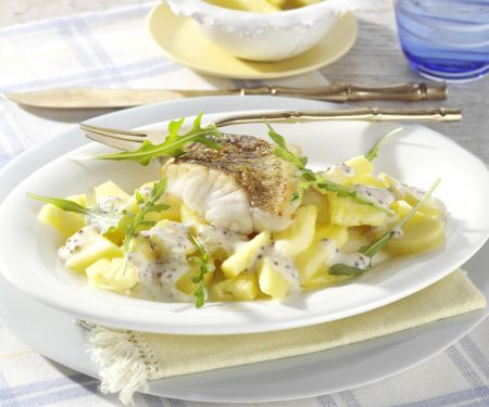 Perch Fillet with Potato and Pineapple Salad