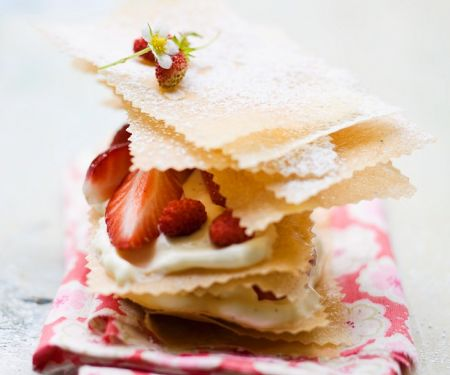 Phyllo Pastry with Strawberries