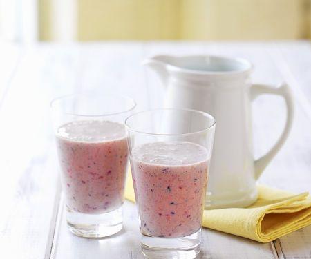 Plum and Berry Yogurt Drinks
