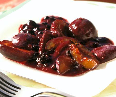 Plum and Elderberry Compote