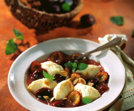 Plum Compote with Semolina Dumplings