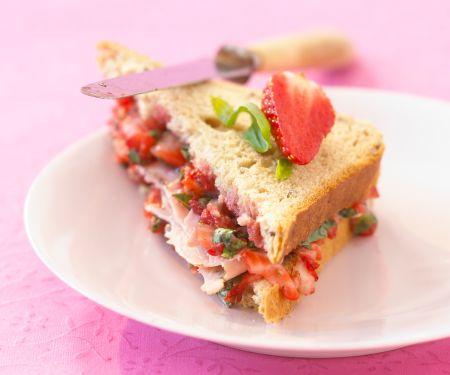 Pork and Berry Sandwich Triangels