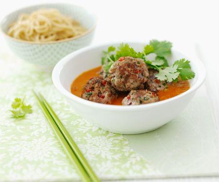 Pork Meatballs with Coconut-Tomato Sauce