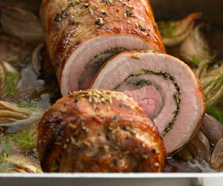 Pork Roast with Fennel and Gravy