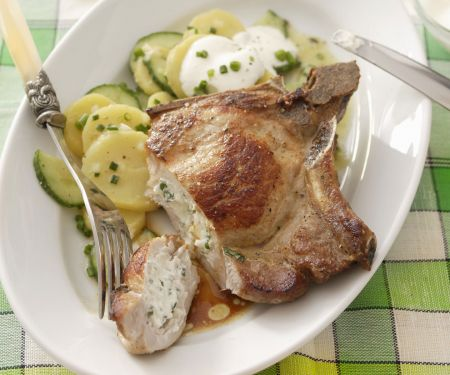 Pork Steaks with Cream Cheese Filling