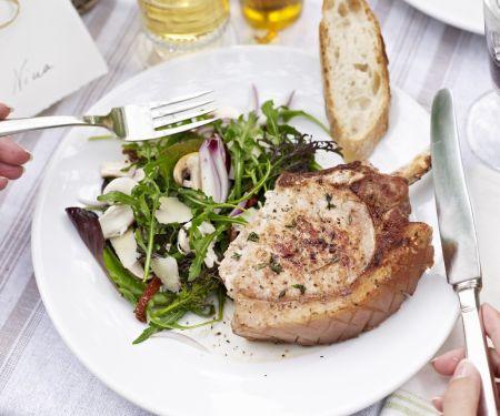 Pork with Mixed Leaf Salad